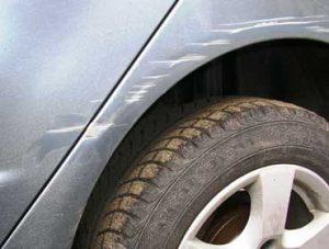 Удаление глубоких царапин на автомобиле