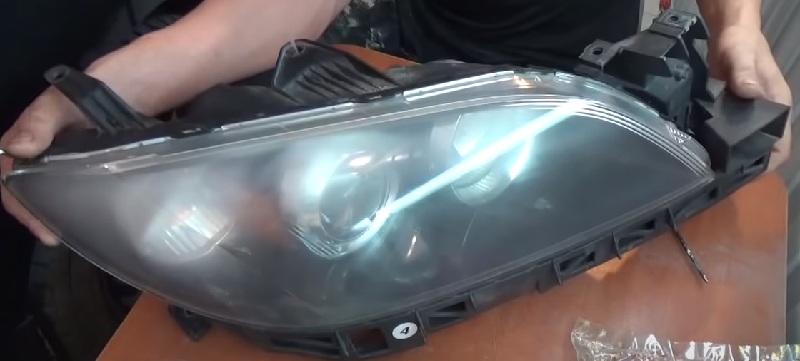 Как полировать фару внутри